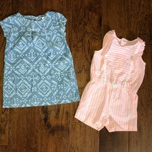 Summer outfit bundle chambray dress and romper